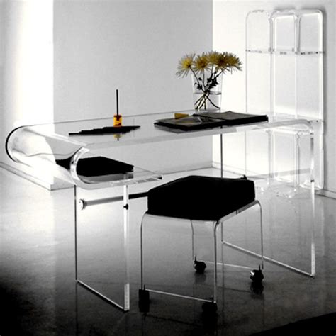 Acrylic Computer Desk 1 Contemporary Furniture 174 Product Page