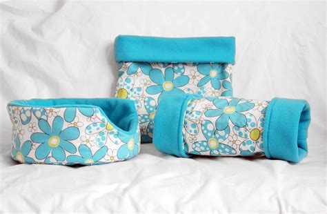 guinea pig bed daisies guinea pig bed tunnel snuggle sack matching by