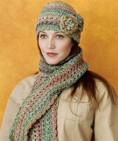 crocheted cloche scarf set crochet scarves