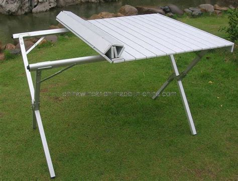 roll up portable table cing table folding aluminum portable bench roll up