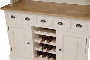 mottisfont painted dresser with built in wine rack