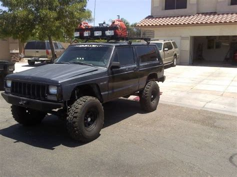 jeep comanche roof basket lifted xj with roof rack xj roof basket jeep cherokee