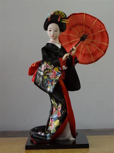 Remax Zhuaimao Decoration Doll Figur 1 12 30cm japanese brocade kimono kabuki geisha doll figure home decoration mf012 in
