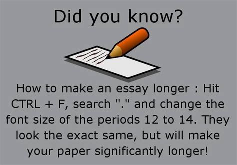 How To Make Your Paper Longer - easy tip to make your college essay longer best