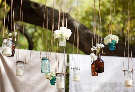 floreros con mason jars decoraci 243 n con mason jars 1001 consejos