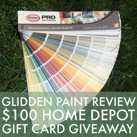glidden paint review and 100 home depot giveaway tatertots and jello