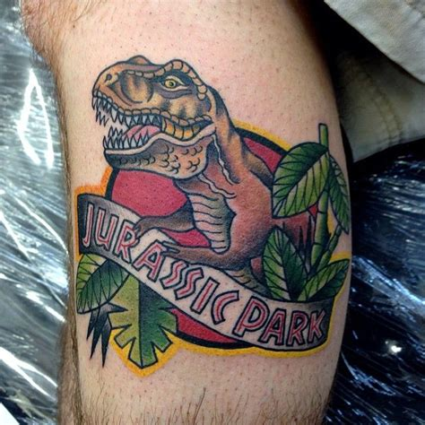 jurassic park tattoo jurassic park by suzi q cool tattoos continues