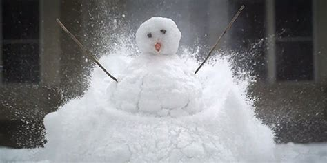 blowing up snowman in slow motion is the best way to end