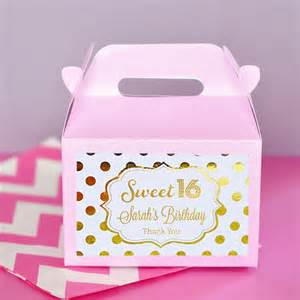 Sweet Sixteen Birthday Favors by Sweet 16 Favors Boxes Sweet 16 Birthday Favors Sweet
