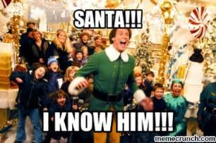 Secret Santa Meme - santa buddy elf