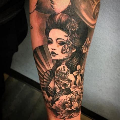 geisha en tattoo tattoos geisha 35 inspirierende fotos und sinn