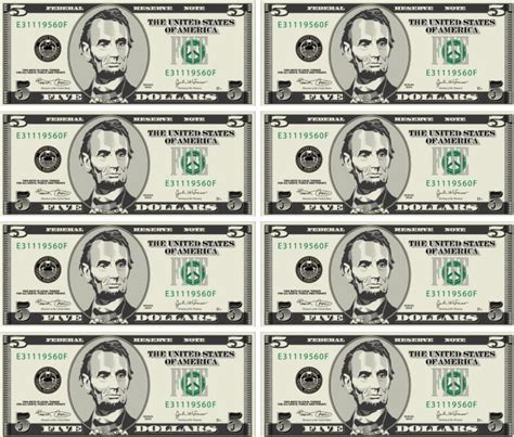 8 best images of fake play money printable free