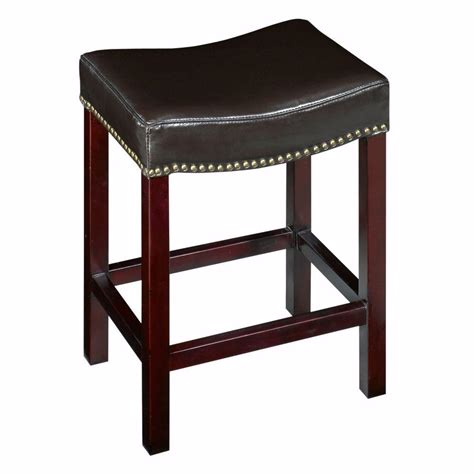 home decorators bar stools dark brown cushioned curved nailhead counter stool sc 1 st