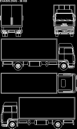 Truck 2D DWG Block for AutoCAD • Designs CAD