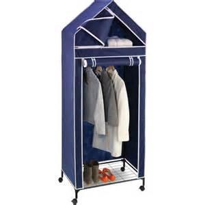 honey can do 30 quot portable storage closet navy white trim