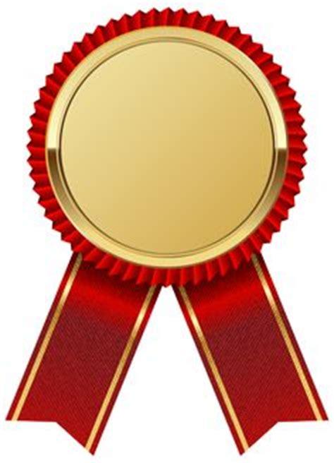 gold seal  gold ribbon png clipart image badges