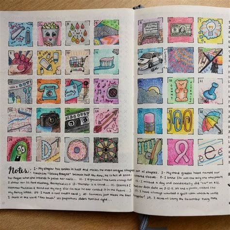 doodle challenge ideas a doodle a day in a bullet journal by smittenbyhand