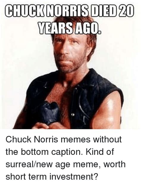 Meme Pictures Without Captions - chucknorris died 20 yearsago chuck norris meme on sizzle