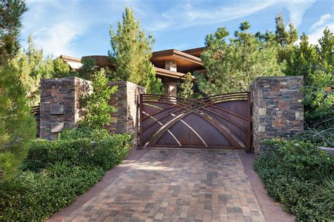 creative driveways landscape contemporary with driveway