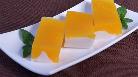 mango recipe mango panna cotta manjula s kitchen indian vegetarian