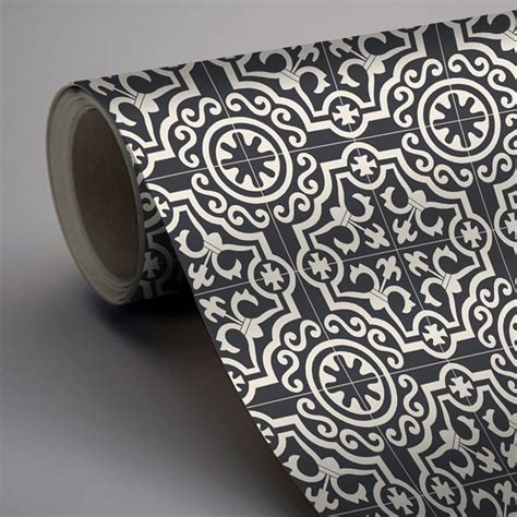 black removable wallpaper clearance moroccan lys wallpaper in black removable vinyl