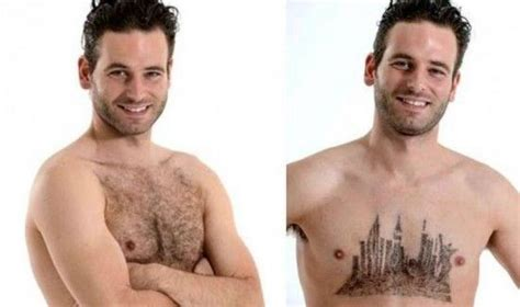 pictures of mens chest hair patterns a talented stylist of men s chest hair randommization