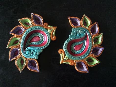 Handmade Diwali Decorations - painted diya diwali diyas diwali