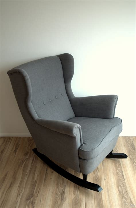 diy armchair ikea hack strandmon rocker diy wingback rocking chair
