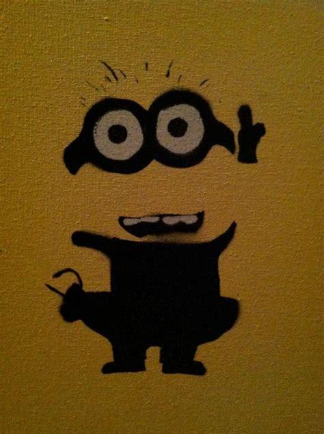 items similar  despicable  minion graffiti stencil art