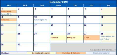 Calendar 2019 With Holidays December 2019 Calendar With Holidays 2018 Calendar Printable