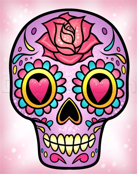 sugar skull how to draw a sugar skull easy step by step skulls pop culture free drawing