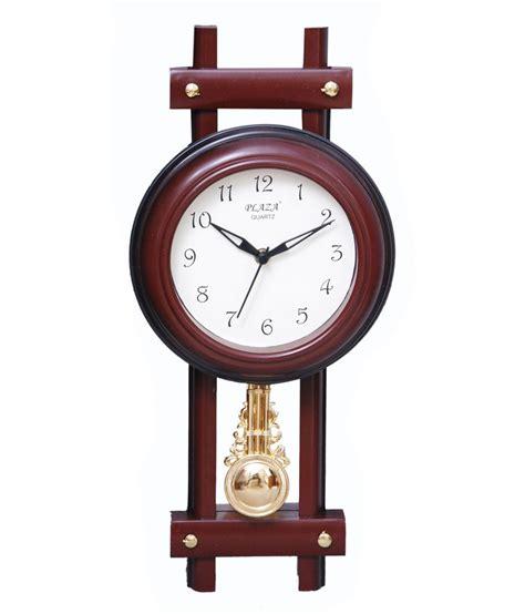 pendulum wall clock plaza brown pendulum wall clock buy plaza brown pendulum wall clock at best price in india on