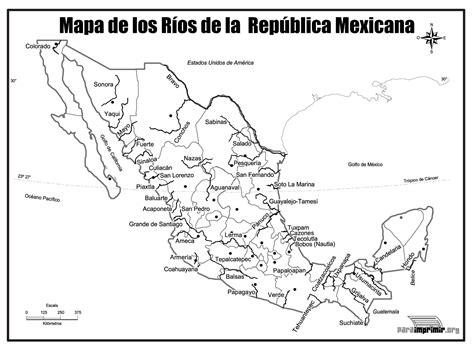 mapa de mexico con rios mapa de los r 237 os de m 233 xico para imprimir