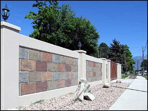 decorative concrete walls decorative concrete fences wall forms aftec llc