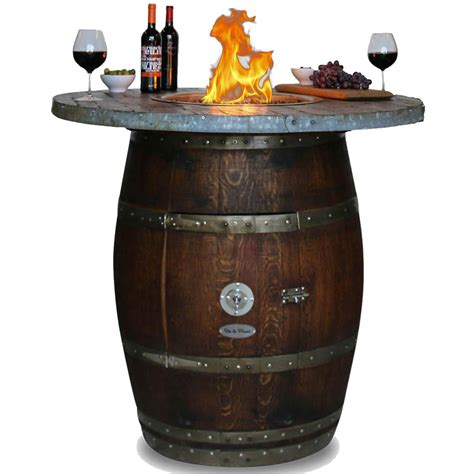 wine barrel pit table grand 42 inch wine barrel pit table by vin de bar height wood stave top 65 000