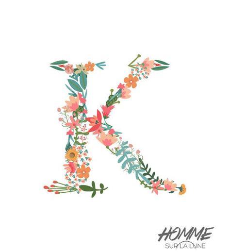 Floral Monogram Letter