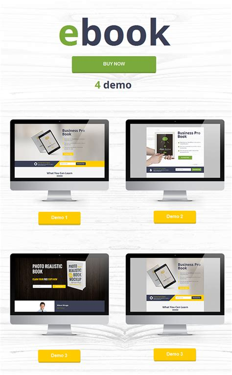 ebook html landing page template marketing download