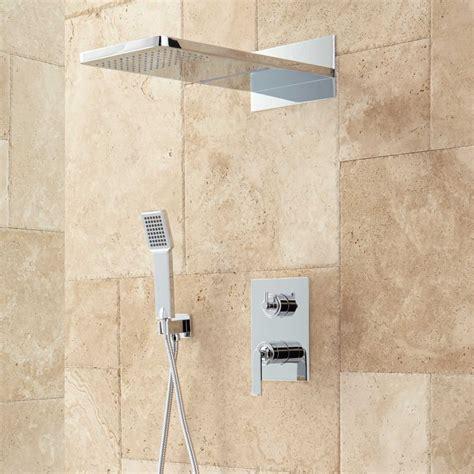 head bathroom calhoun shower system with rainfall shower head hand