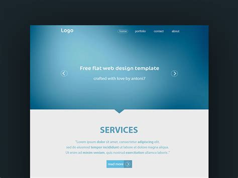 simple homepage template simple website template freebie photoshop