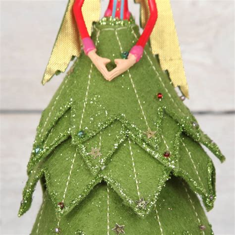 christmas fairy angel felt tree topper by red berry apple