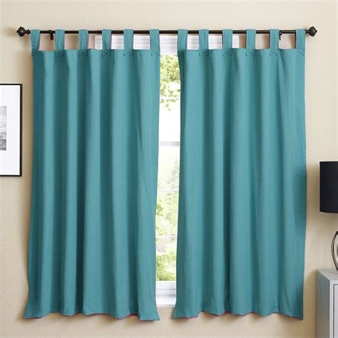 twill curtains blazing needles twill curtain panels in aqua blue and bery