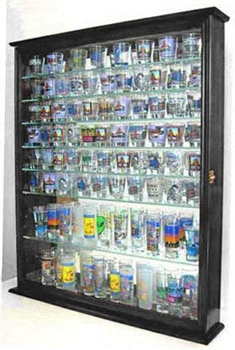 110 Shot Glass Display Case Wall Cabinet With Door