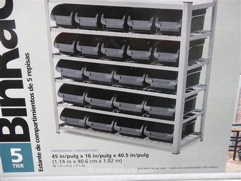 Costco Storage Racks Whalen by Whalen 5 Tier Bin Rack