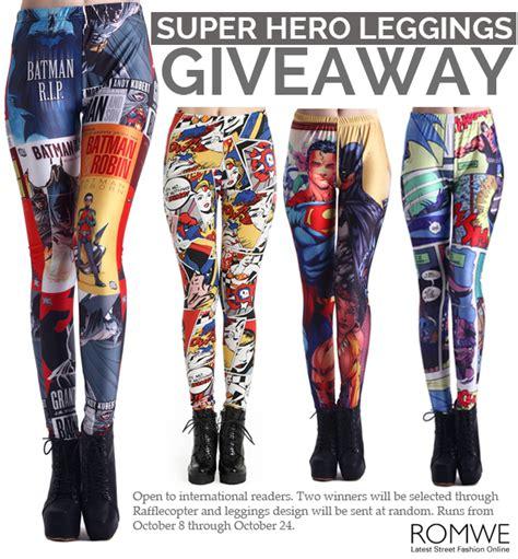 Leggings Giveaway - romwe super hero leggings giveaway closed whatever is lovely