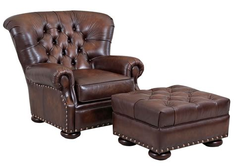 Sofa Wood Frame Large Tufted Back Leather Club Chair Club Furniture