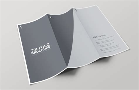 Tri Fold Brochure Mockup Template Medialoot Brochure Mock Up Template