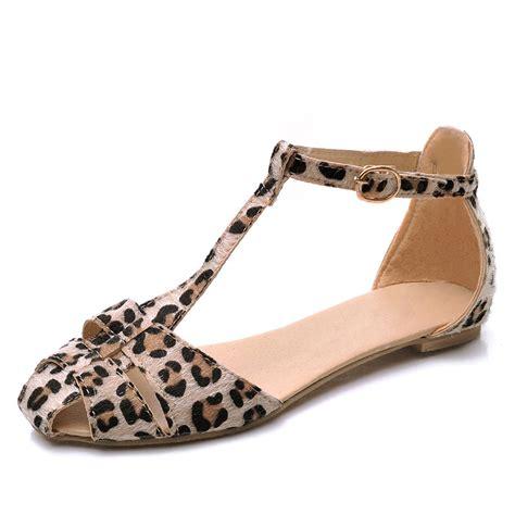 Sandal Big Heels Fladeo M 2 leopard print flat heel s sandals 2016 summer
