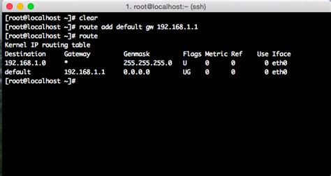 add to router how to use route command on rhel centos linux