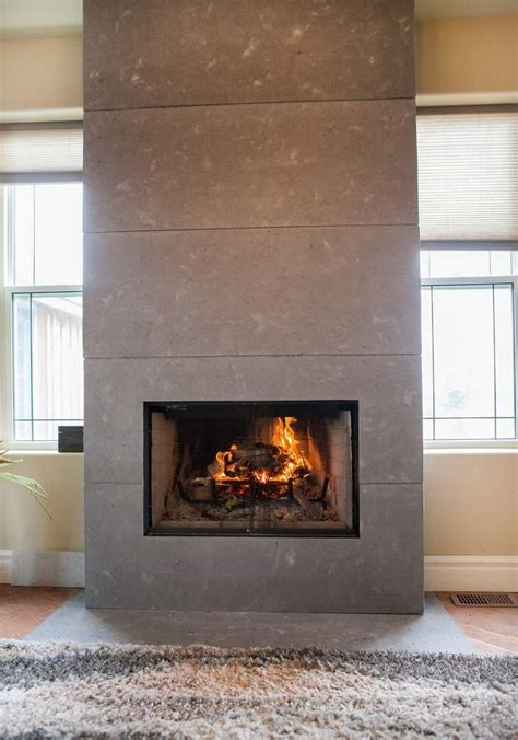 ideas  concrete wall  fireplace   part