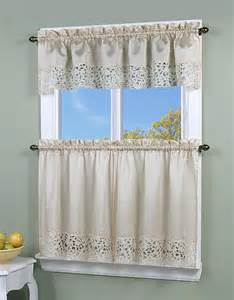 Sears Kitchen Curtains Store Simply Window Brighton Cutwork Kitchen Curtain Valance